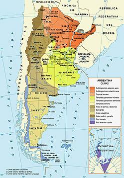 Cartina Climatica America Settentrionale.Argentina Il Clima